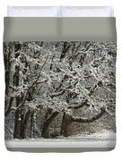 Snow On Trees Duvet Cover