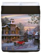 Snow Streets Duvet Cover by Dominic Davison