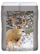 Snowstorm Deer Duvet Cover