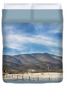 Snowy High Peak Mountain Duvet Cover