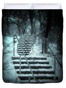 Snowy Stairway Duvet Cover