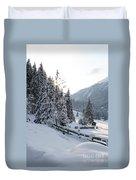 Snowy Trees Duvet Cover