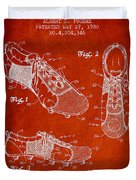 Soccershoe Patent From 1980 Duvet Cover