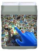 Social Media Network Duvet Cover