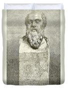 Socrates Duvet Cover by English School