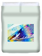 Sodium Thiosulphate Crystals In Polarized Light Duvet Cover