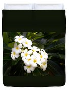 Soft Plumeria Duvet Cover