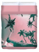 South Beach Miami Tropical Art Deco Wide Palms Duvet Cover