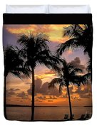 South Florida Sunset Duvet Cover