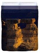 South Rim Grand Canyon Taken Near Mather Point Sunrise Light On  Duvet Cover