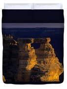 South Rim Grand Canyon Taken Near Mather Point Sunrise Light On  Duvet Cover