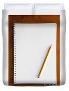 Spiral Notebook Duvet Cover