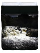 Splashing Australian Water Stream Or Waterfall Duvet Cover