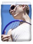 Sporting A Racquet Duvet Cover