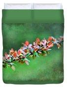 Spring Raindrops On Leaves - Digital Paint Duvet Cover