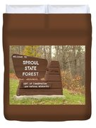 Sproul State Forest Duvet Cover