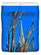 St. Marys Church Steeple Of St Marys Church Duvet Cover