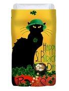 St Patrick's Day - Le Chat Noir Duvet Cover