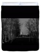 St Paul's With Silver Birches Duvet Cover