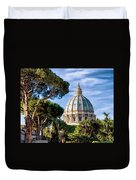 St Peters Basilica Dome Duvet Cover