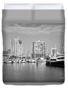 St Petersburg Yacht Basin Duvet Cover