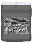 St Sannans Church Bedwellty Mono Duvet Cover