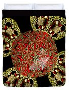 Stained Glass Kaleidoscope Under Glass Duvet Cover