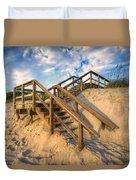 Stairway To Heaven Duvet Cover by Debra and Dave Vanderlaan