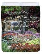 Stands Forever Duvet Cover