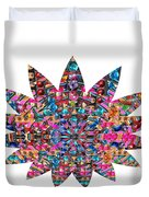 Star Ufo U.f.o. Sprinkled Crystal Stone Graphic Decorations Navinjoshi  Rights Managed Images Graphi Duvet Cover