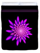 Starburst-32 Framed Black And Pink Duvet Cover
