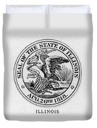 State Seal Illinois Duvet Cover