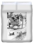 Steam Carriage, 1832 Duvet Cover