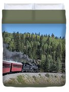 Steam Engine 488 At Osier On The Cumbres And Toltec Scenic Railroad Duvet Cover
