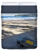 Storm Drainage Pipe On Manly Beach Duvet Cover