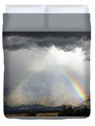 Storm Over The Organ Mountains Duvet Cover