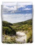 Strahan Coast Landscape Winding To The Ocean Duvet Cover