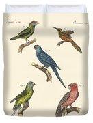 Strange Climbing Birds Duvet Cover