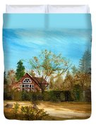Strawberry Lodge Duvet Cover by Dale Jackson