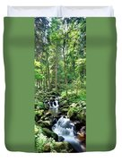 Stream Flowing Through A Forest, Usa Duvet Cover