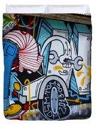 Street Art Valparaiso Chile 15 Duvet Cover