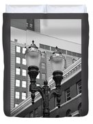 Streetlights - Lansing Michigan Duvet Cover