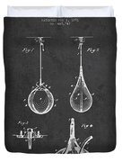 Striking Bag Patent Drawing From1891 Duvet Cover