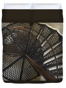 Sturgeon Point Lighthouse Spiral Staircase Duvet Cover