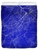 Stuttgart Street Map - Stuttgart Germany Road Map Art On Colored Duvet Cover