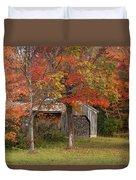 Sugarhouse In Autumn Duvet Cover