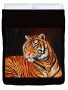 Sumatran Tiger Duvet Cover by David Stribbling