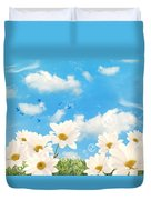 Summer Daisies Duvet Cover by Amanda Elwell