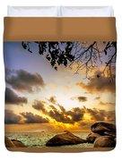 Sun Sand Sea And Rocks Duvet Cover