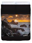 Sun Sets On Patrick's Point Duvet Cover